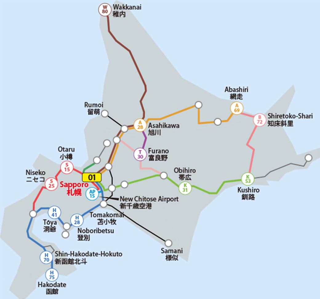 Map JR Hokkaido