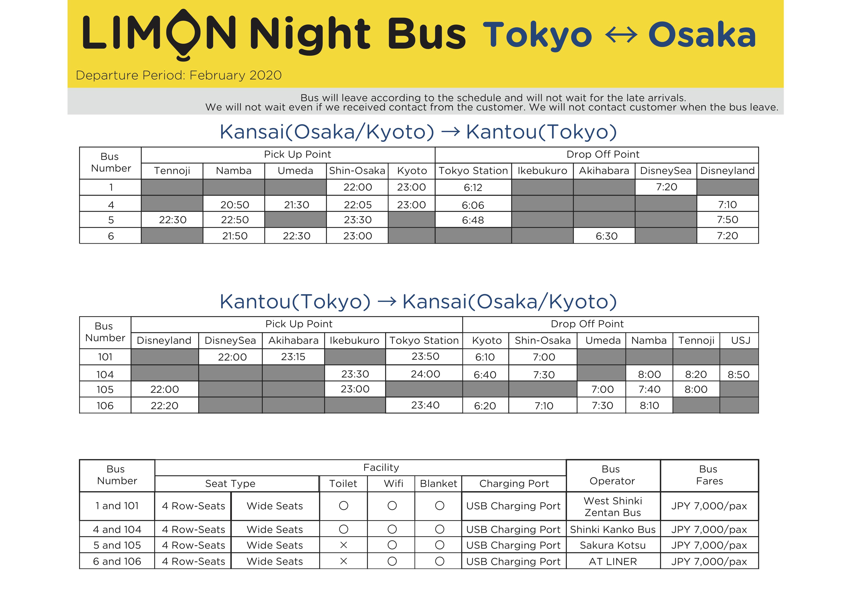 Night Bus Feb 20201