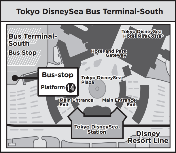 TOKYO DISNEY SEA BUS TERMINAL SOUTH