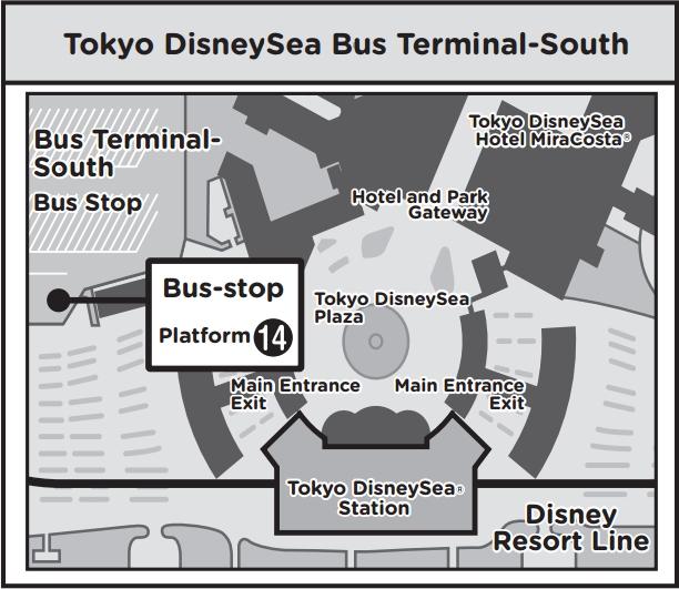 TOKYO DISNEYSEA BUS TERMINAL SOUTH