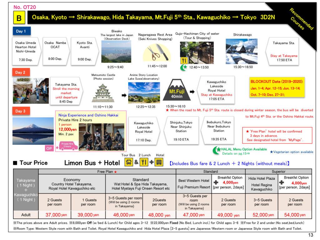 New SIC Tours Shirakawago Mt.Fuji 19.Aug .2019 Dec.2020 190913 14 E 11 OT20