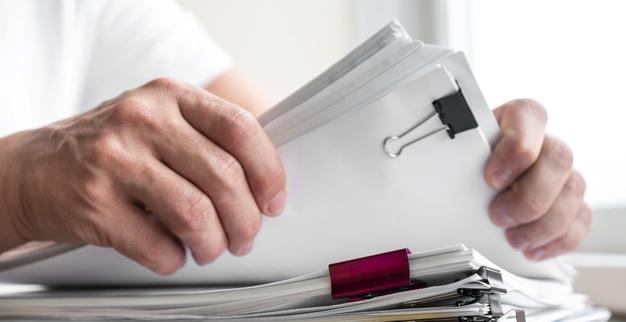 modern man man arranging business documents 23 2148377709