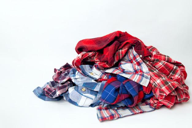 pile men s colored clothes plaid shirts 137637 60